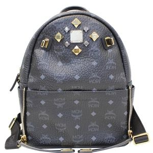 MCM STARK VISETOS BACKPACK BAG BLACK